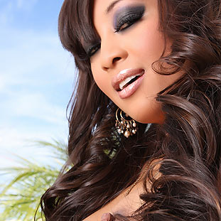 Asian beauty, Kina Kai, looks stunning in her little black dress, but she doesn't find any panties to go with it she decides to go without! from Aziani