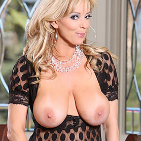 Rachel Aziani in See Thru top. Shows off her huge Tits from Busty Rachel