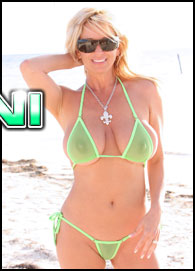 Rachel Aziani in a See Thru Bikini from Busty Rachel