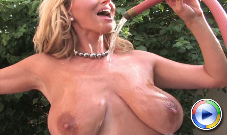Rachel Aziani has her own wet t-shirt contest from Busty Rachel