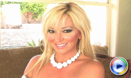 Rachel Aziani has fun with glass dildo! from Busty Rachel