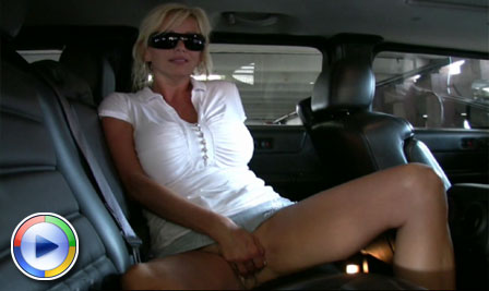 Rachel Aziani blowjob in the car! from Busty Rachel