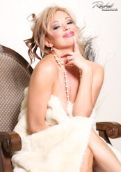 Rachel Aziani is stunning wearing nothing but pearls and a blanket! from Busty Rachel