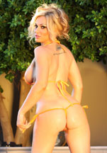Tyler Faith in her tiny, sheer yellow bikini! from Aziani