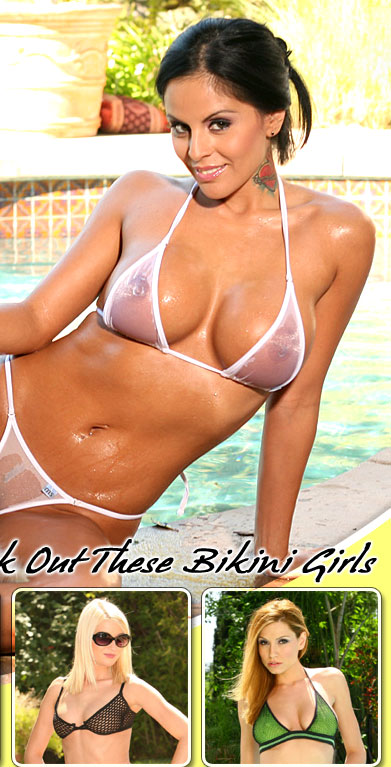 Alektra Blue in a See Thru Bikini only at Aziani.com presents nude photos of ...
